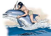 0205 A dolphin save Arion life carrying him to safety
