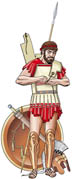0507 Panoply of a greek hoplite