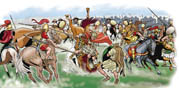 1007 Oplacus attacks Pyrrhus, and with spear kills his horse