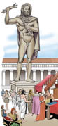 0305 Colossus of Zeus by Lysippos at Taranto